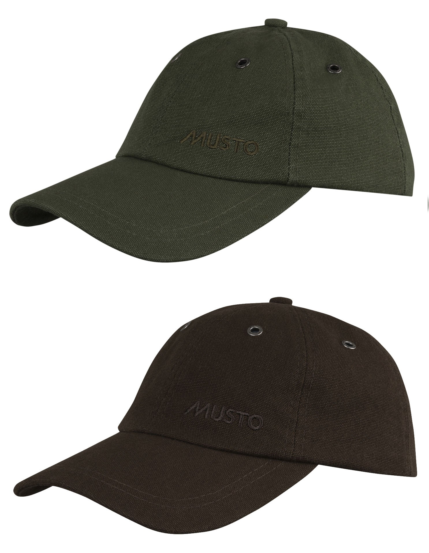 Musto Evolution Canvas Crew Cap | Dark Brown & Dark Moss