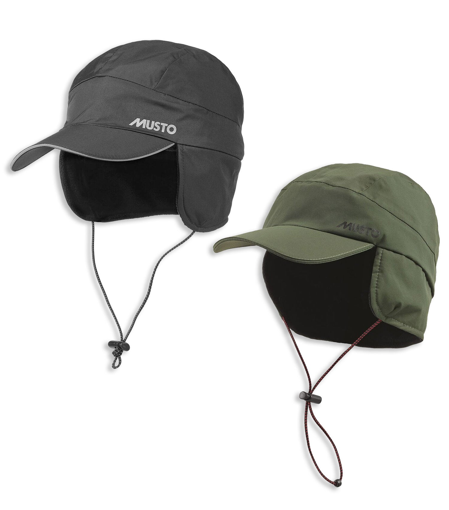 Musto Fleece Lined Waterproof Cap | Black, Green