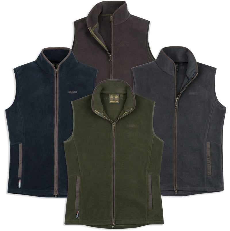 Musto Glemsford Polartec Fleece Gilet | Moss Green, True Navy, Carbon, Liquorice