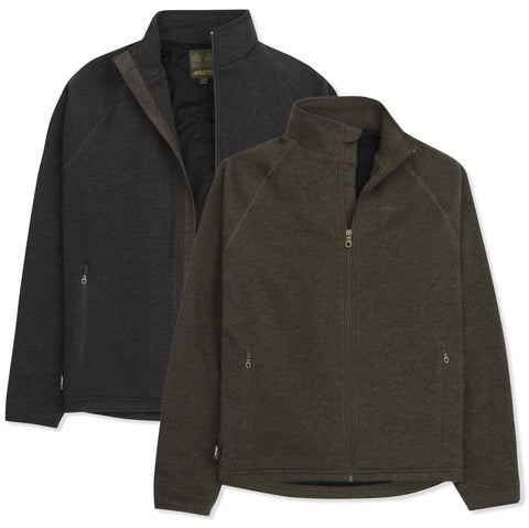 Musto Melford Fleece Jacket | Liquorice and Forest Green