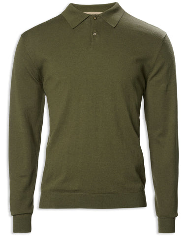 Musto Polo Collar Knit | Moss