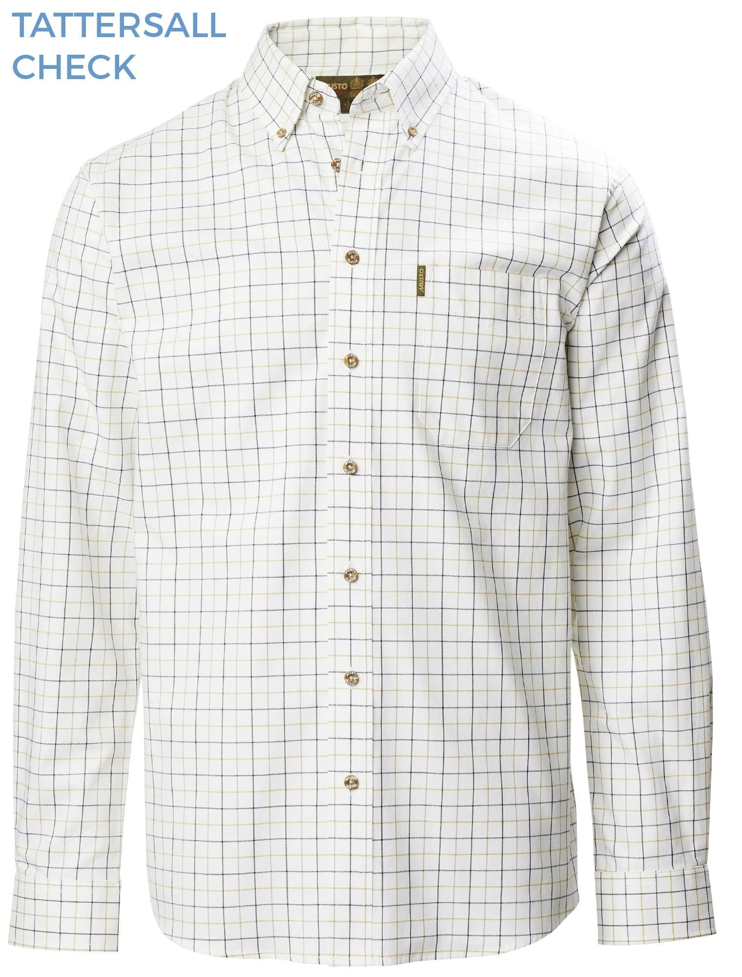Musto Classic Button Down Shirt Tattersall Check