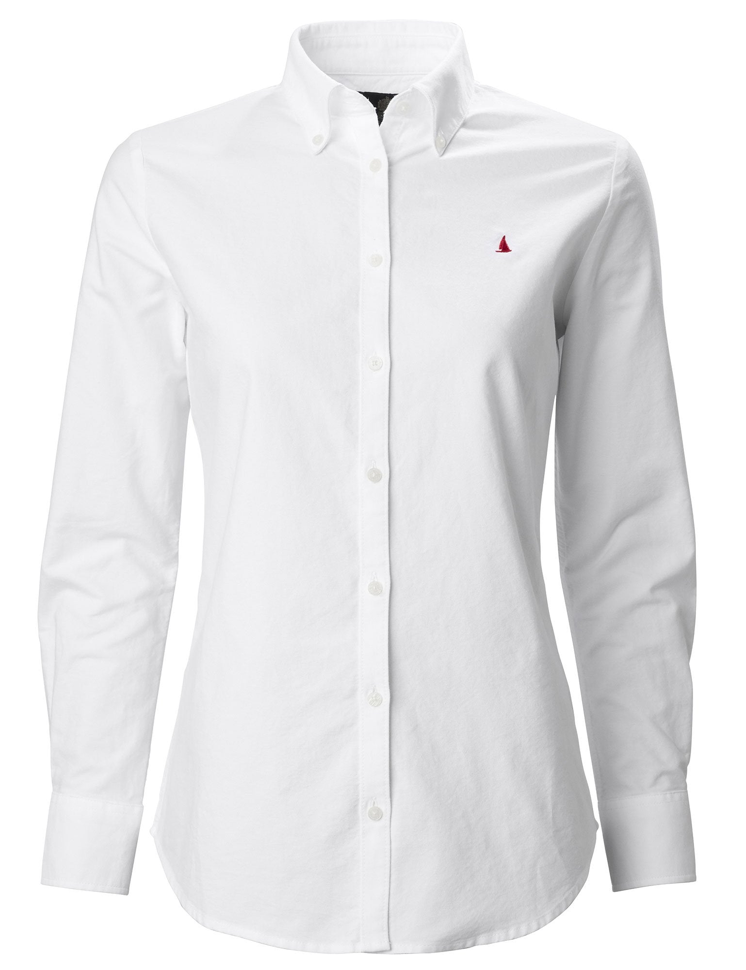 Bright White Musto Ladies Oxford Long Sleeve Shirt