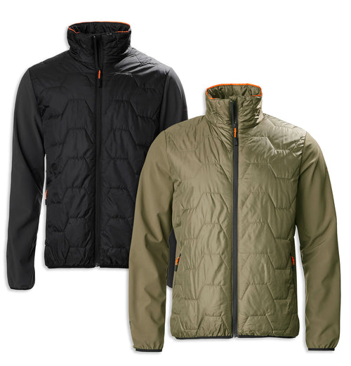 Musto X Land Rover Hybrid Jacket | Carbon Black, dusty Olive Green