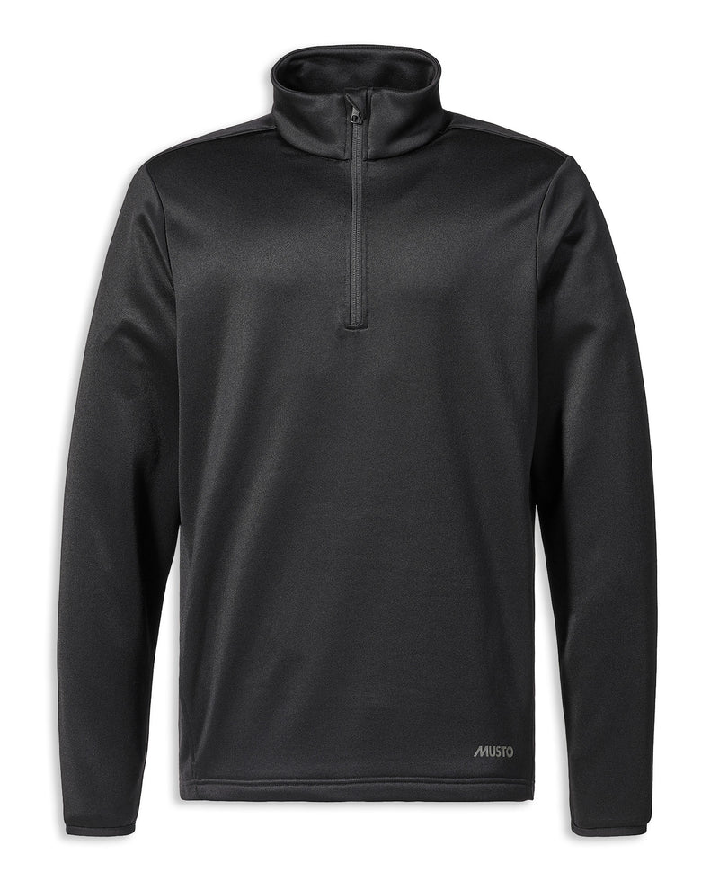 Black Musto Essential 1/2 Zip Sweater