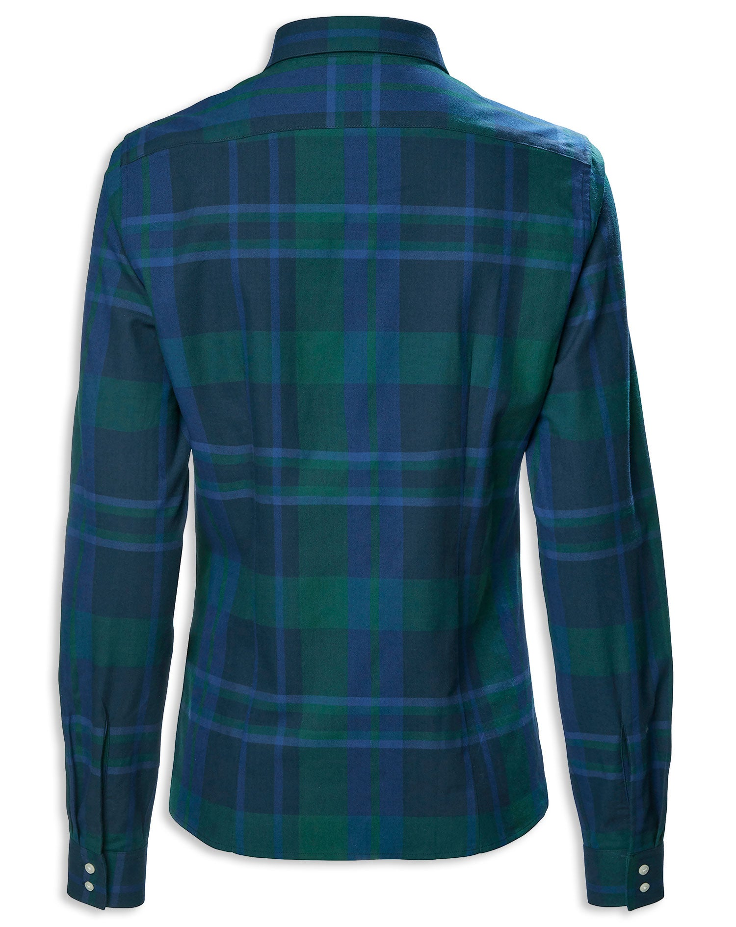 Highland Blue Navy Green Plaid Tartan Shirt