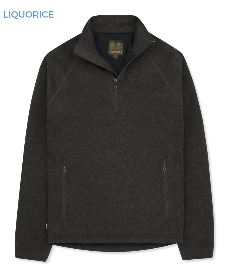 Musto Polartec Windjammer Half Zip Fleece | Liquorice