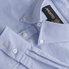 Musto Oxford cotton shirt in Pale Blue