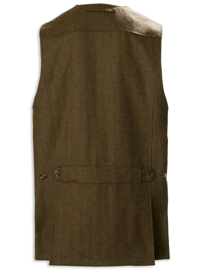 Back View Musto Stretch Technical Tweed Waistcoat