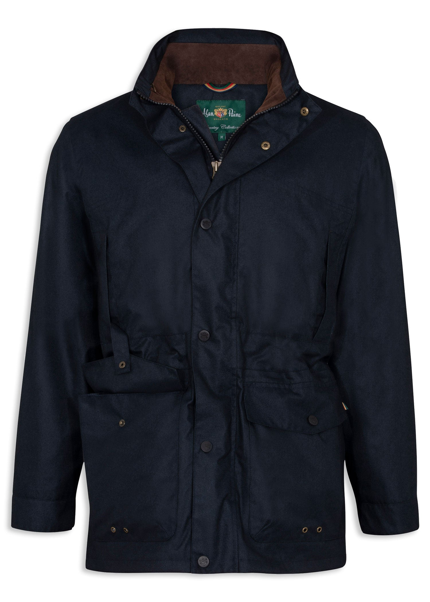 Navy Alan Paine Fernley Waterproof Field Coat