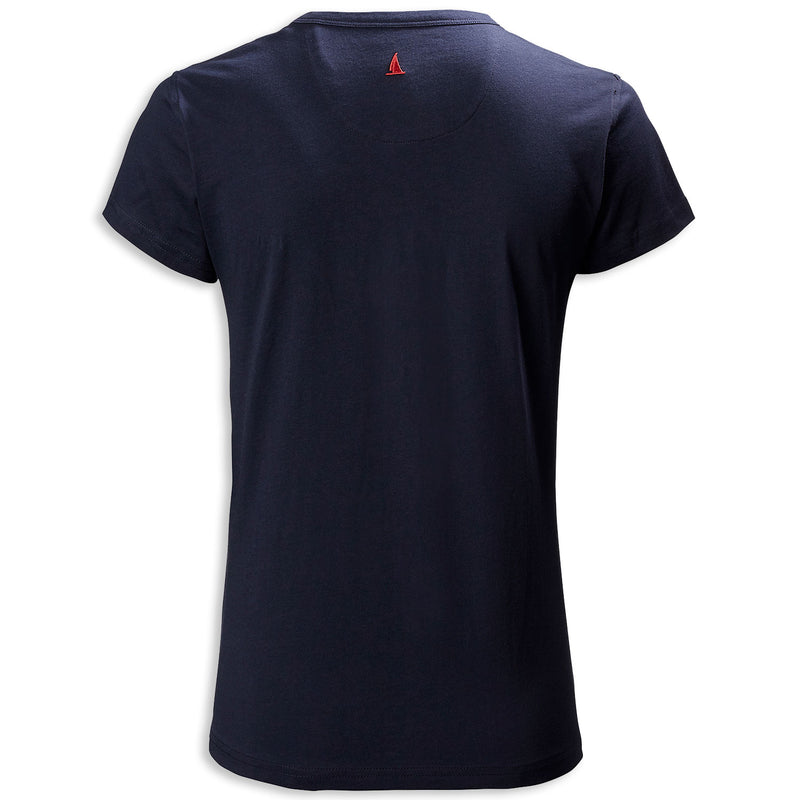 Back Navy with red logo Musto Ladies Favourite T-Shirt