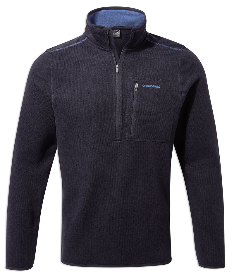 Dark Navy Marl Craghoppers Etna Half Zip Fleece
