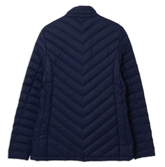 Back View navy Ladies Lara Quilted duvet Down Jacket by Lighthouse