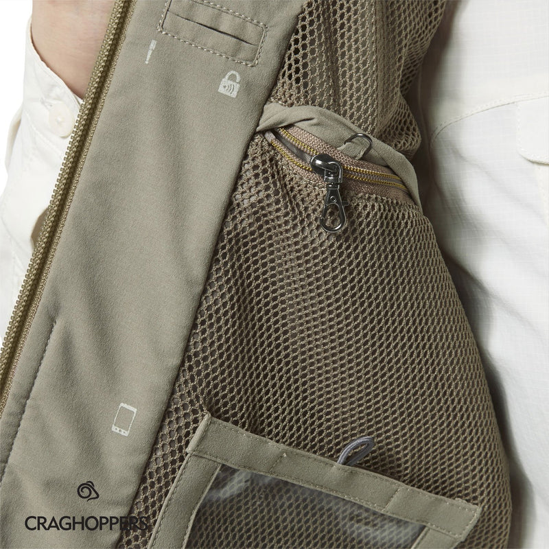 Zipped secure travel pockets