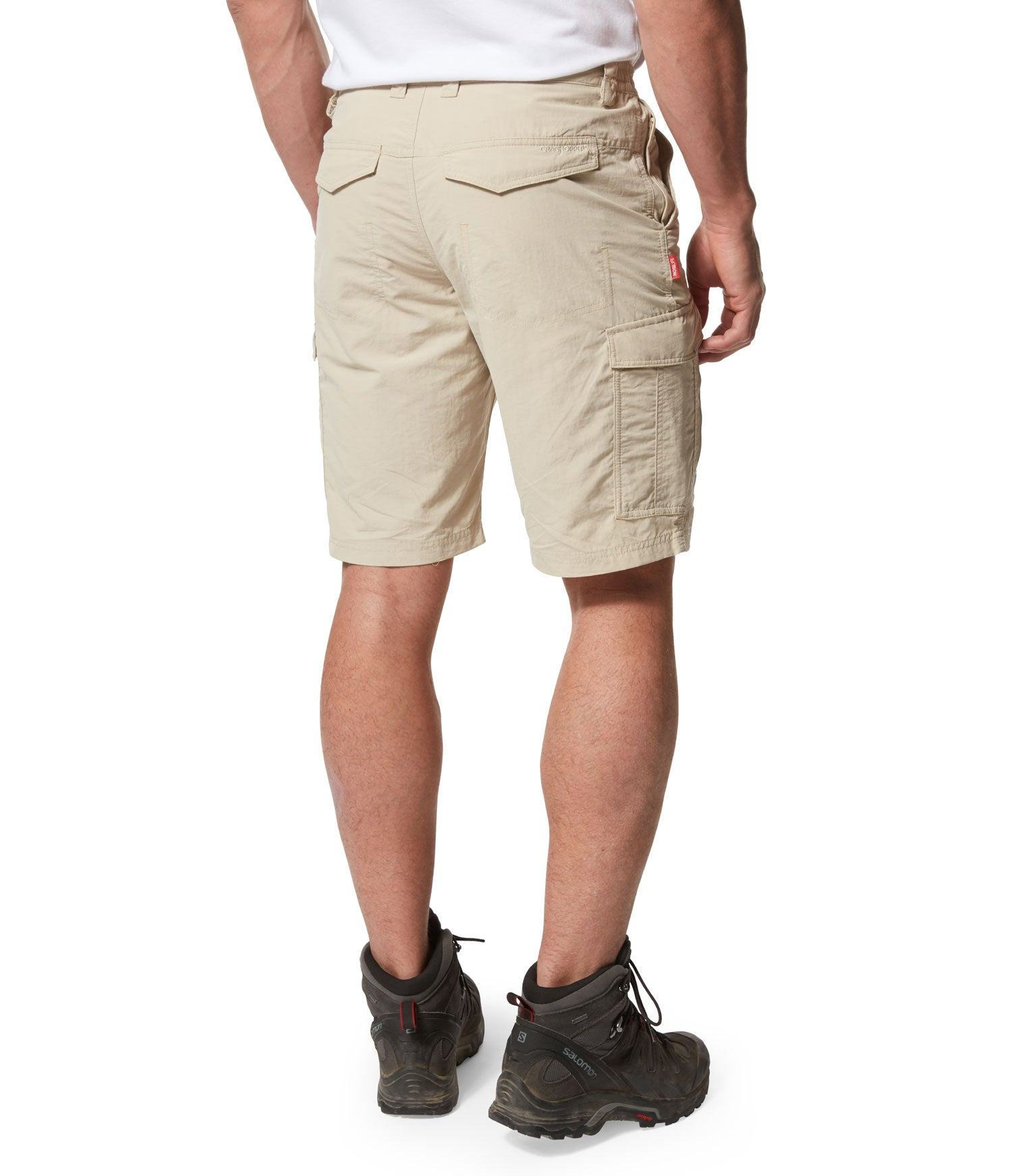 REar view travel shorts