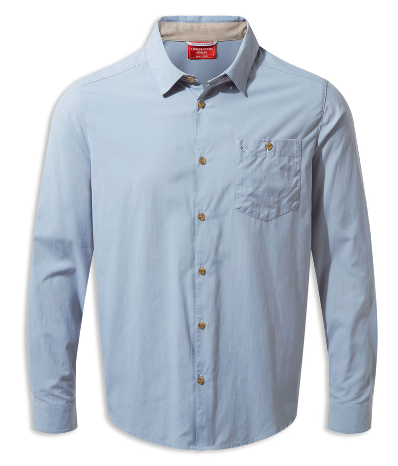 Fogle Blue Craghoppers NosiLife Nuoro Long Sleeve Shirt