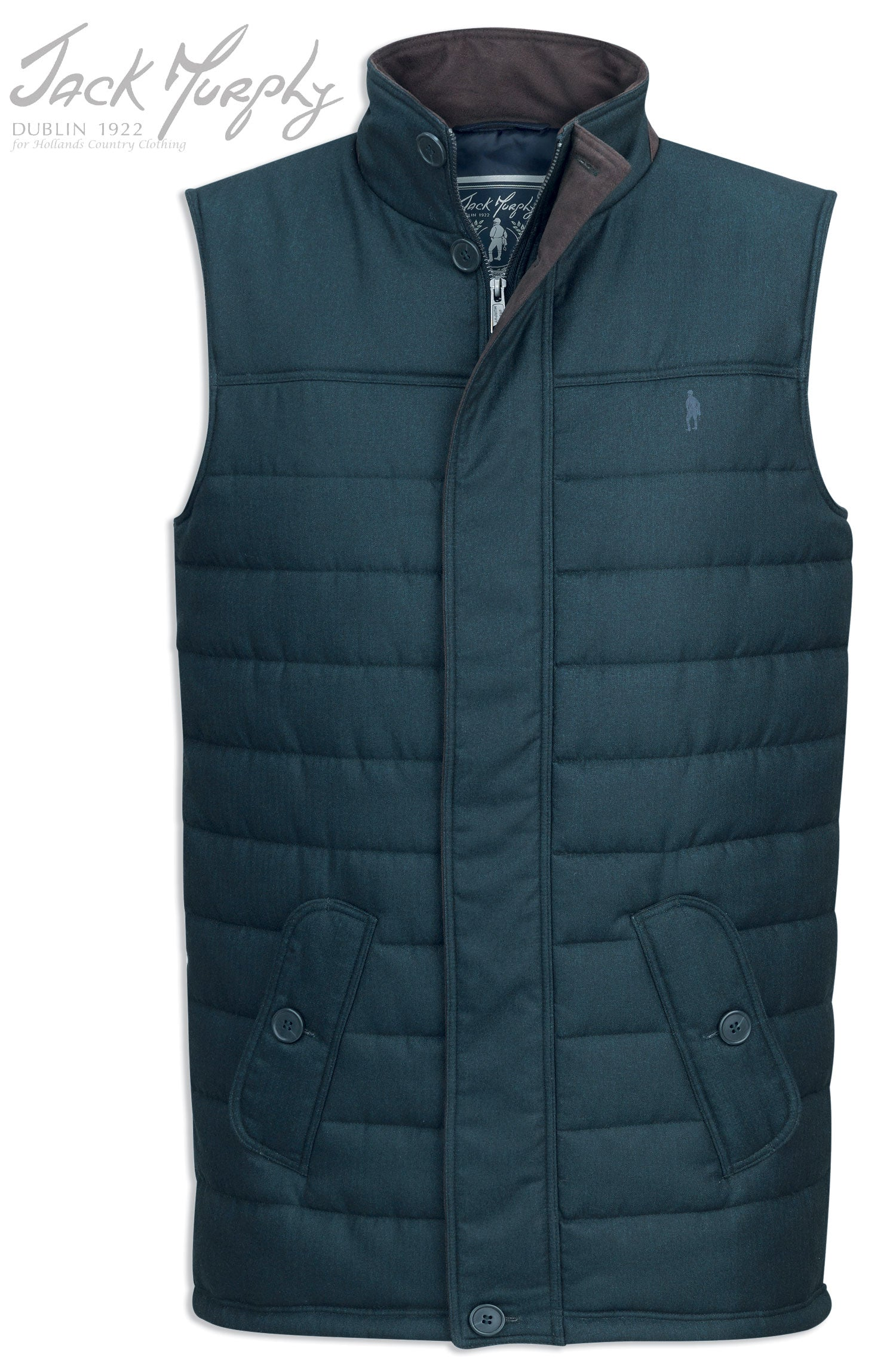 green colour Jack Murphy Norman Quilted Gilet