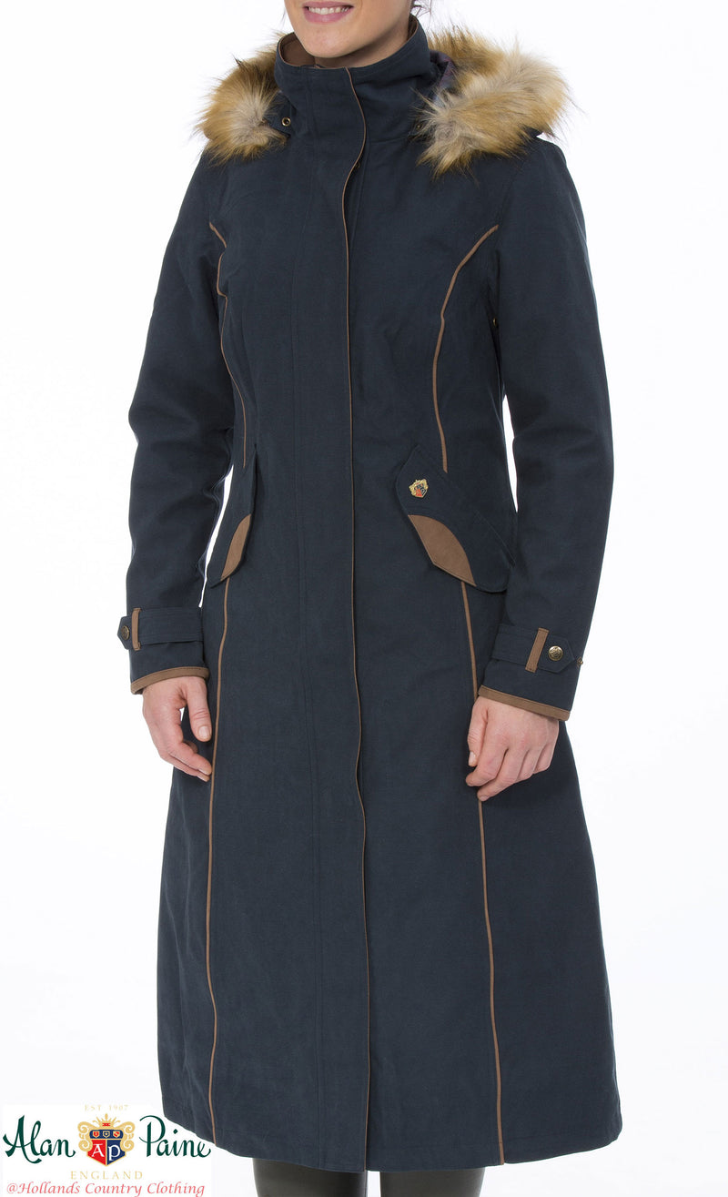 NAvy Alan Paine Berwick Long Waterproof Coat