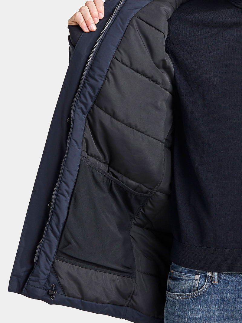 Navy with quilted lining