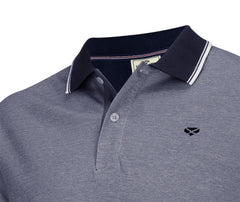 Navy with contrast collar polo style