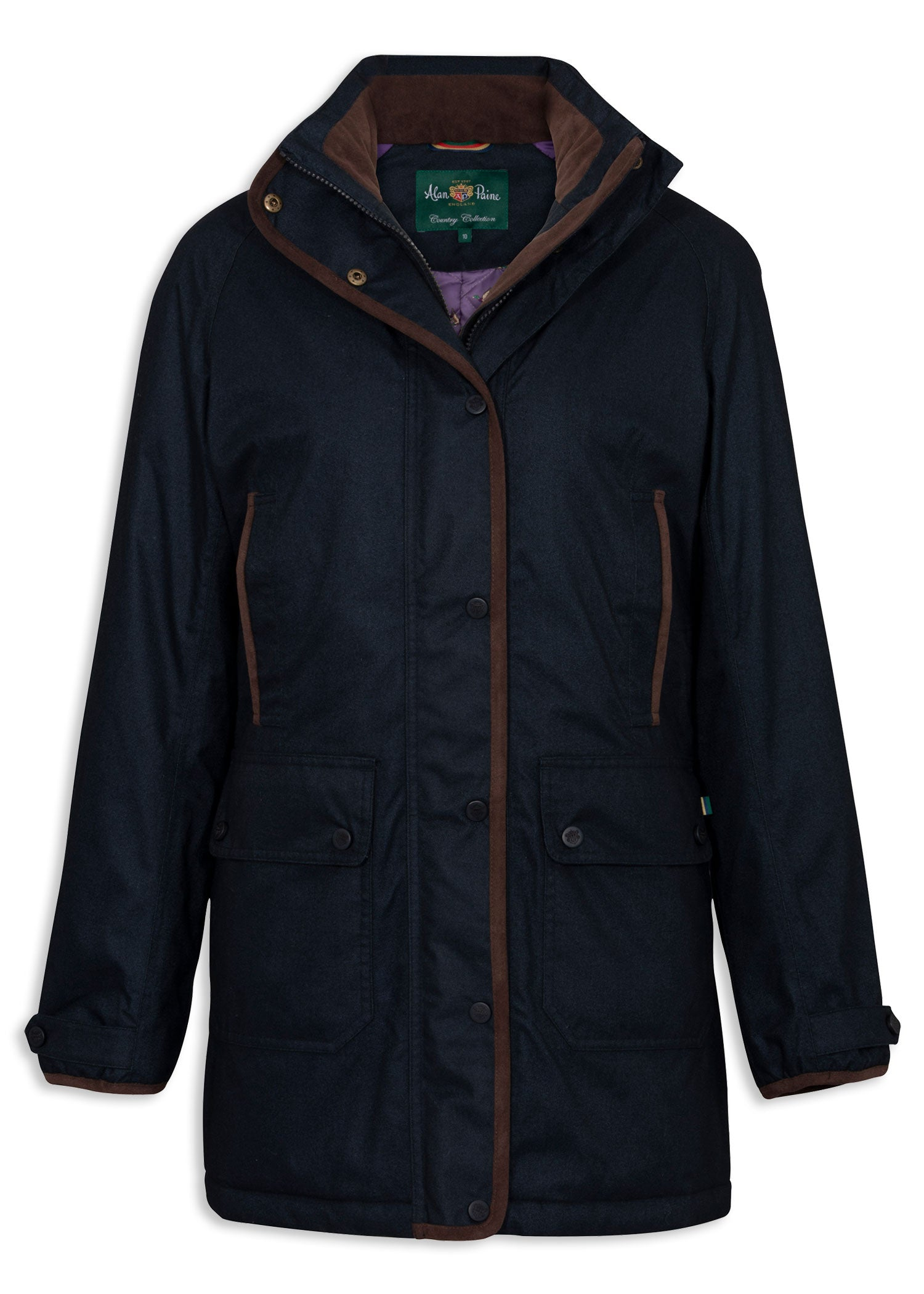 Navy Blue Alan Paine Fernley Ladies Weekend Coat