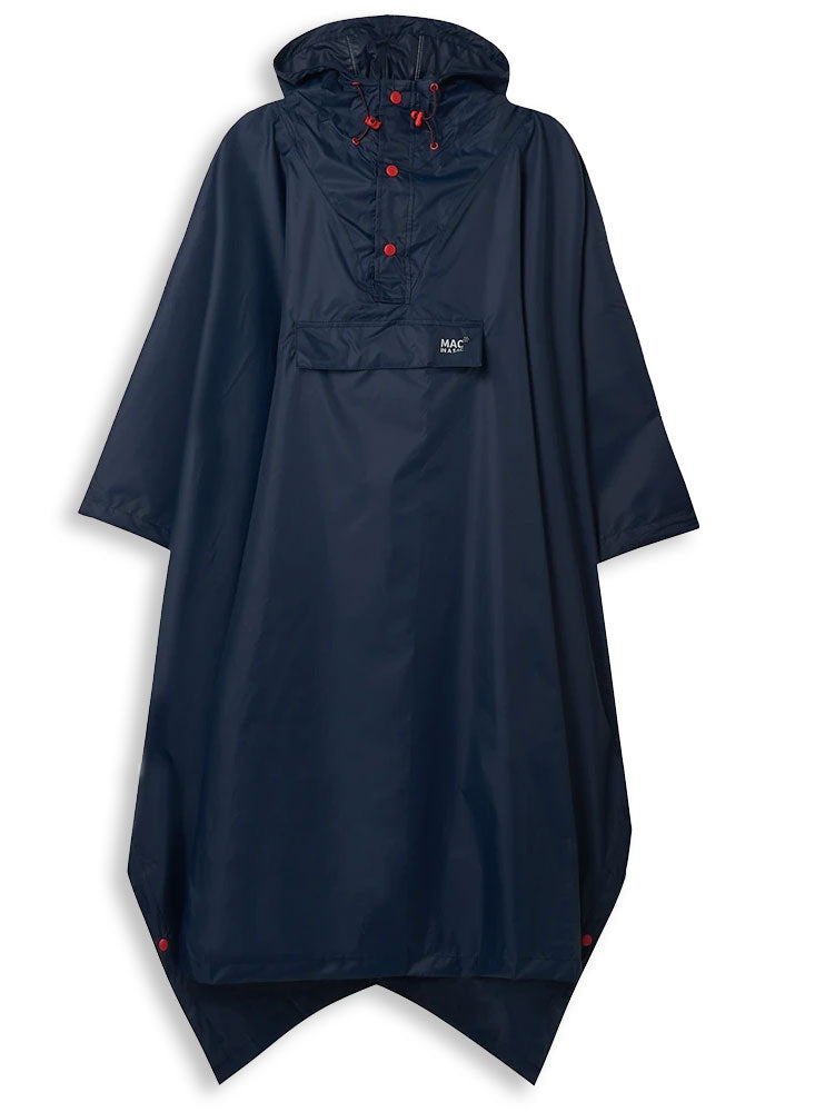 Navy Navy Packaway Waterproof Poncho by Lighthouse
