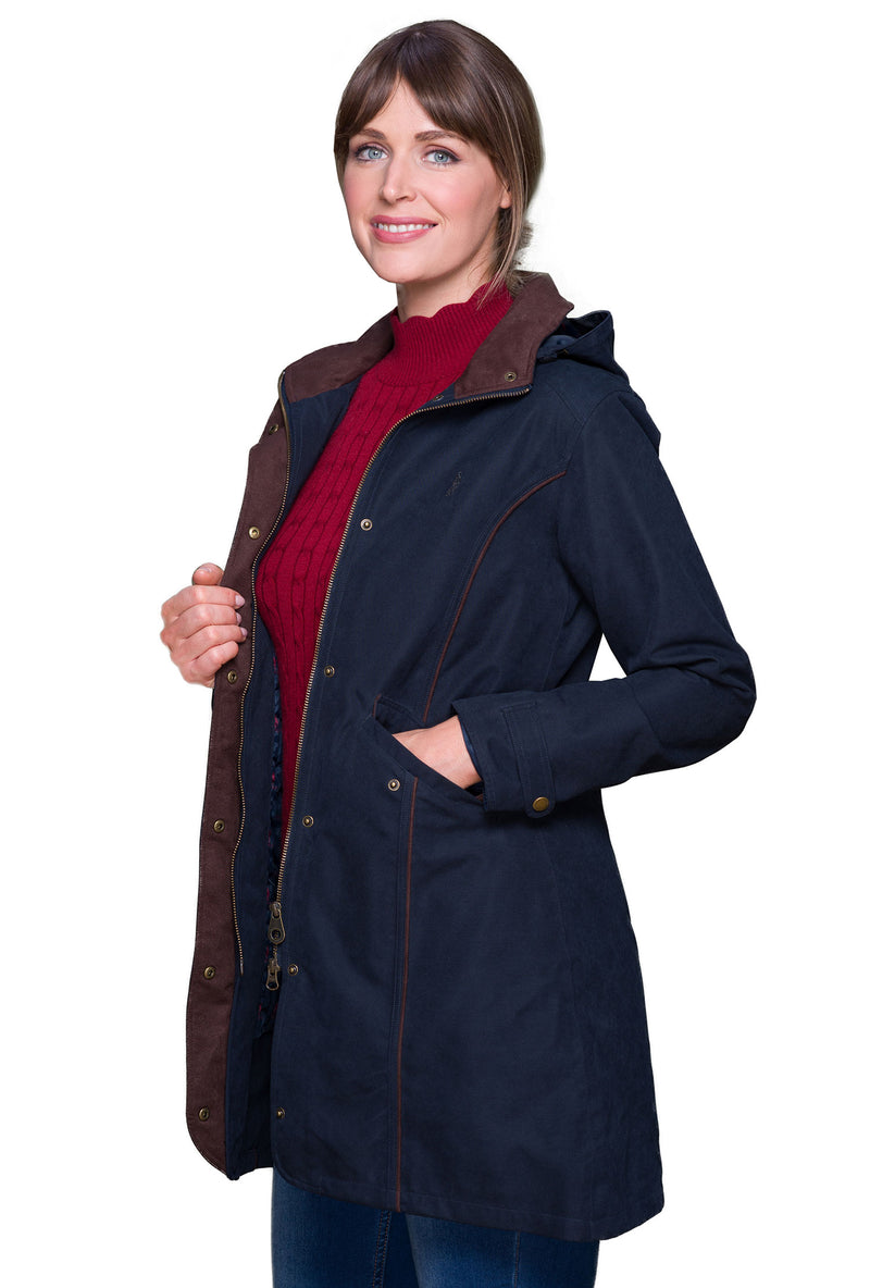 Longer length to mid calf waterproof coat
