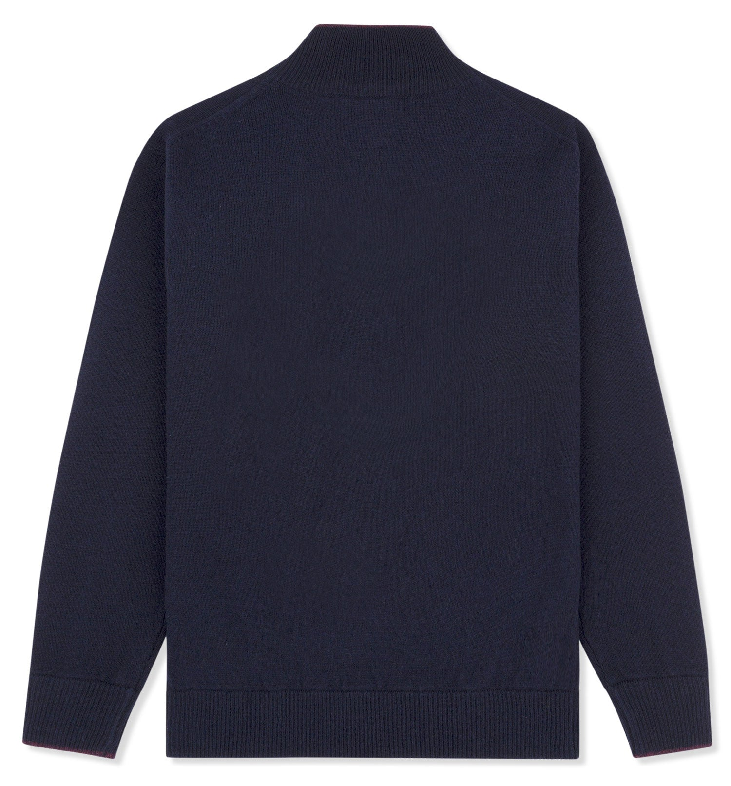 Back view Musto Knit Zip Neck Pullover