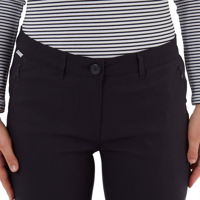 Navy Button waistband