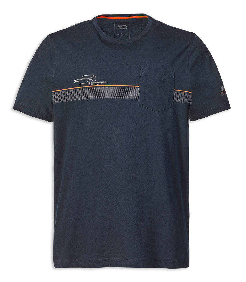 Navy Men's Short Sleeve Land Rover T-Shirt by Musto