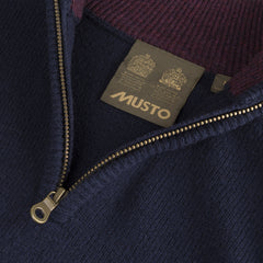 Lambswool Zip Neck Pullover by Musto