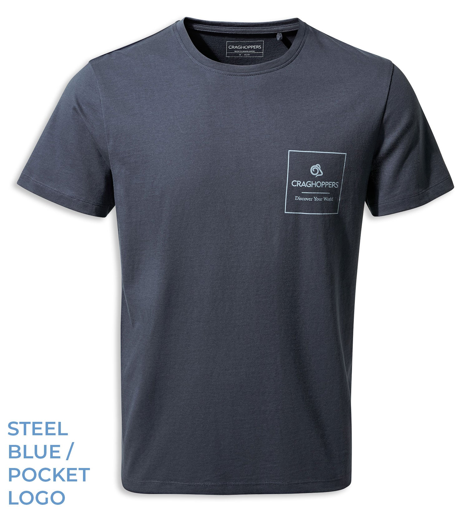 Steel Blue Craghoppers Nelson T-shirt
