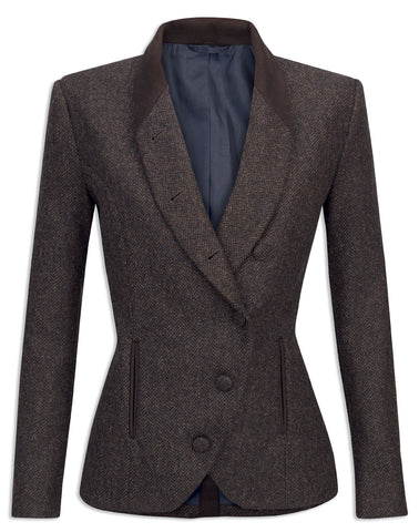 Jack Murphy Nicole Ladies Tweed Jacket - Brown - Delightful Herringbone