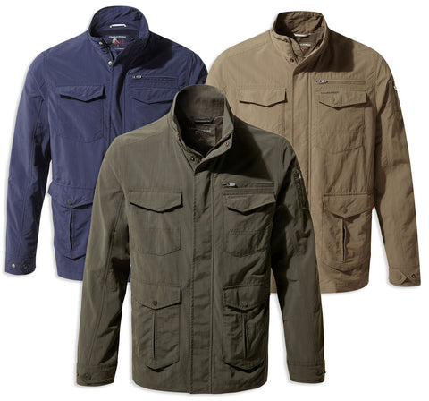 Craghoppers NosiLife Adventure Jacket II | Woodland Green, Blue Navy, Pebble