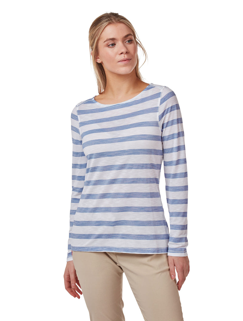 Paradise Blue Ladies NosiLife Erin Long Sleeve Top by Craghoppers