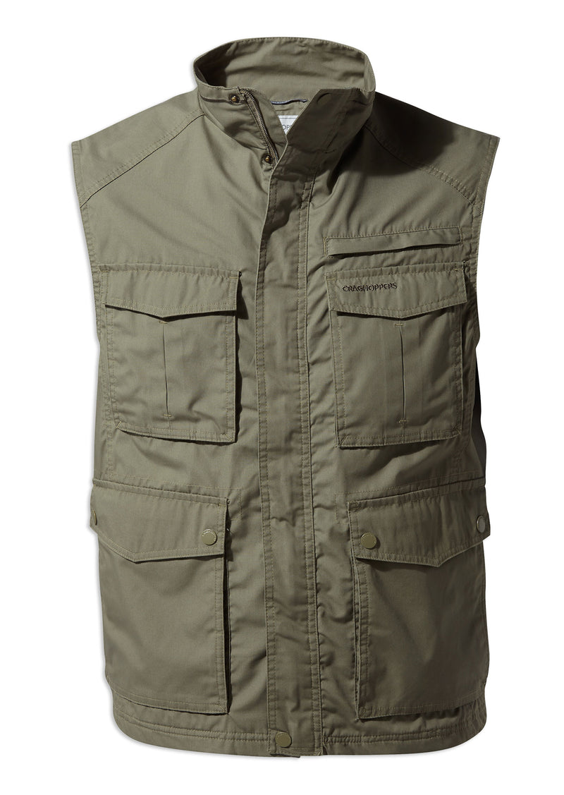 Craghoppers Novara Multi-Pocket Vest | Greenwich Green