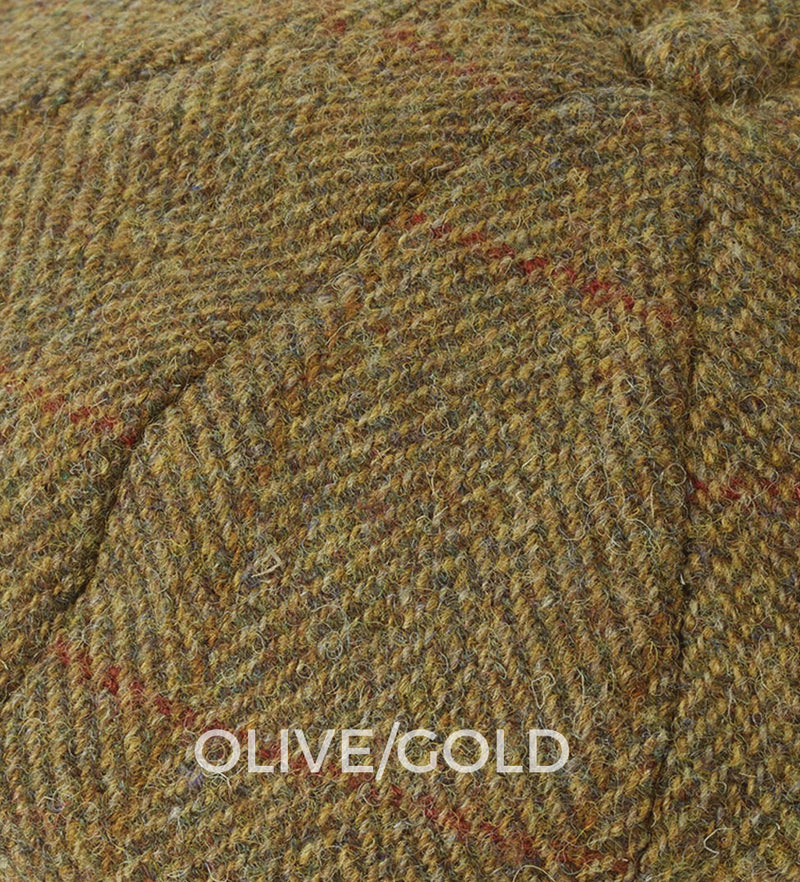 HARRIS TWEED IN OLIVE GOLD