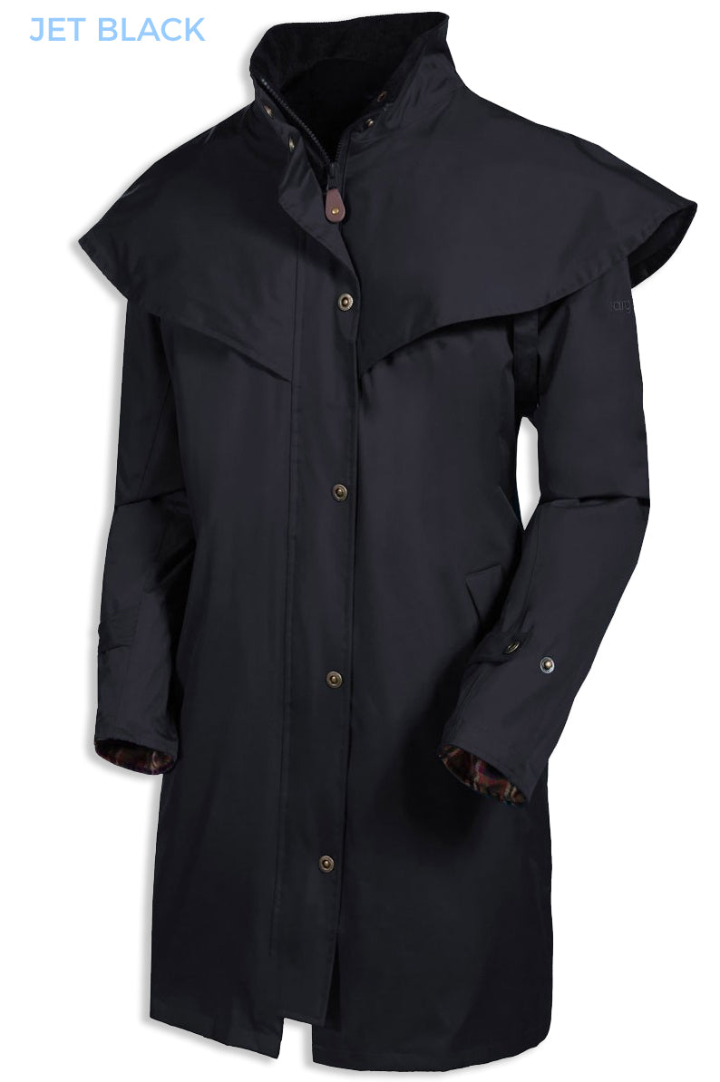 jet black Target Dry Outrider 2 Three Quarter Length Waterproof Coat