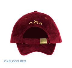 Rich Red Ladies Equestrian Baseball cap Rear View