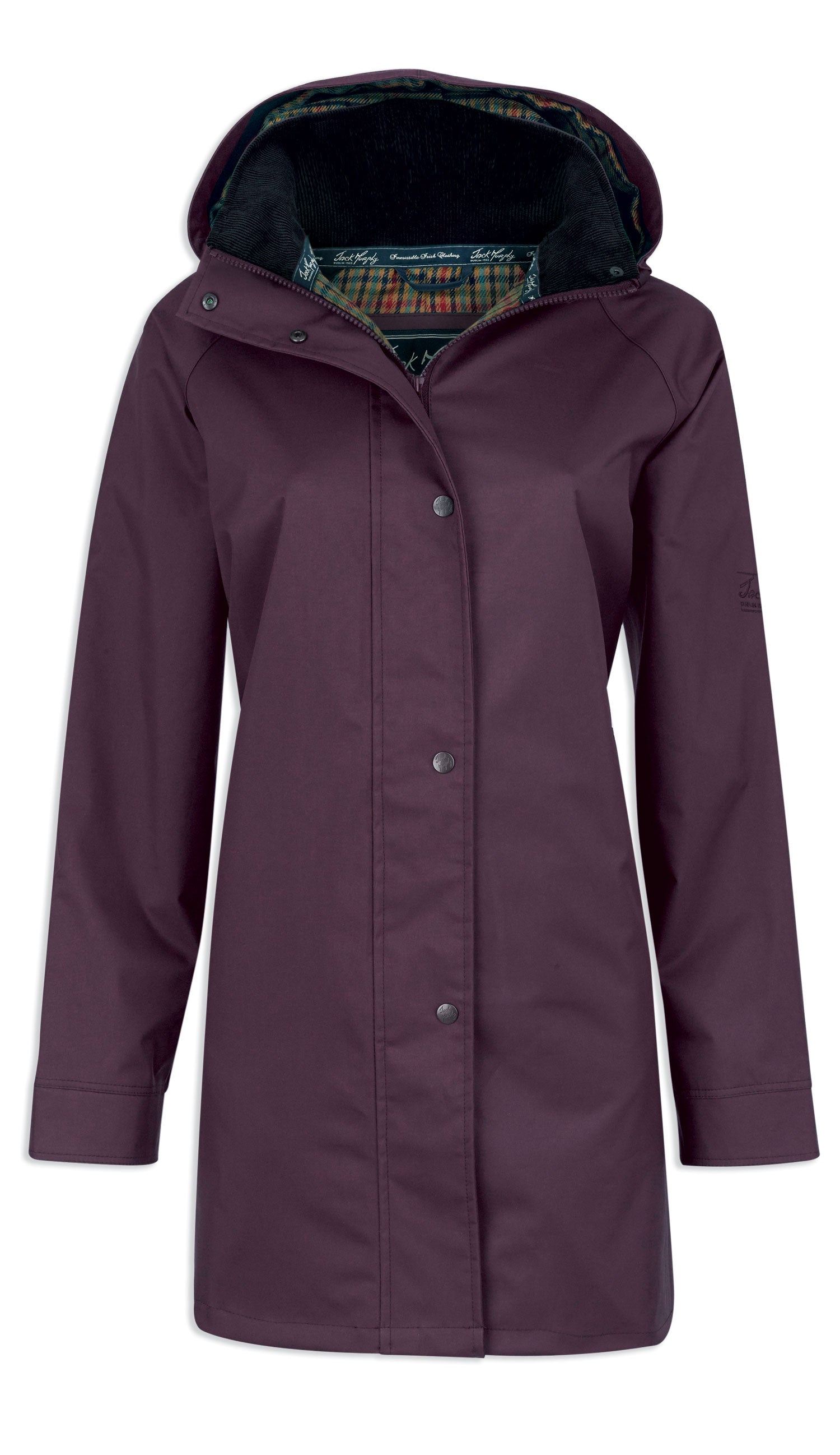 Jack Murphy Ladies Oxford Waterproof Coat in Blackberry