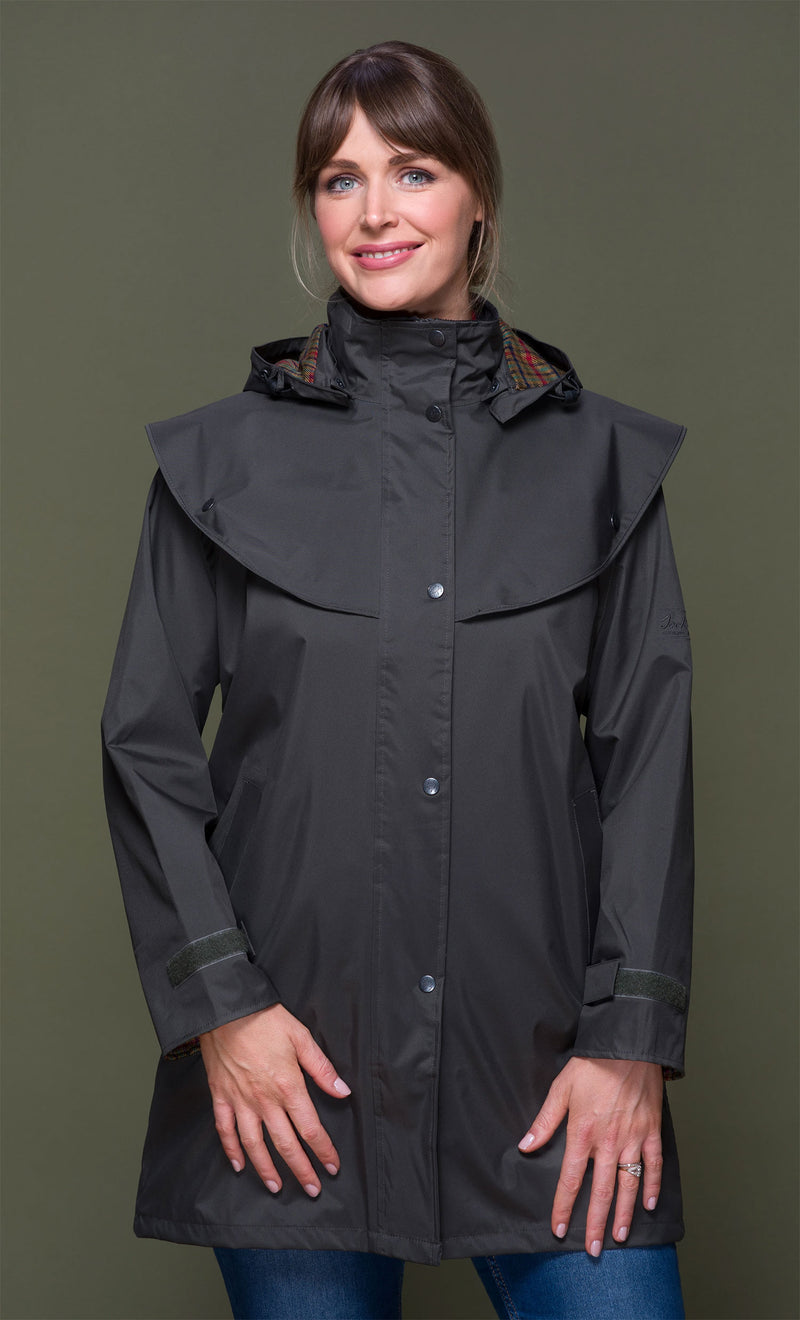 Olive Jack Murphy Cotswold Ladies Waterproof  3/4 Coat