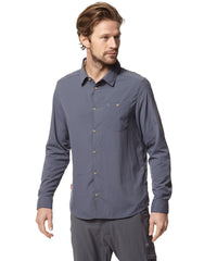 Ombre Blue travel shirt with insect repellent