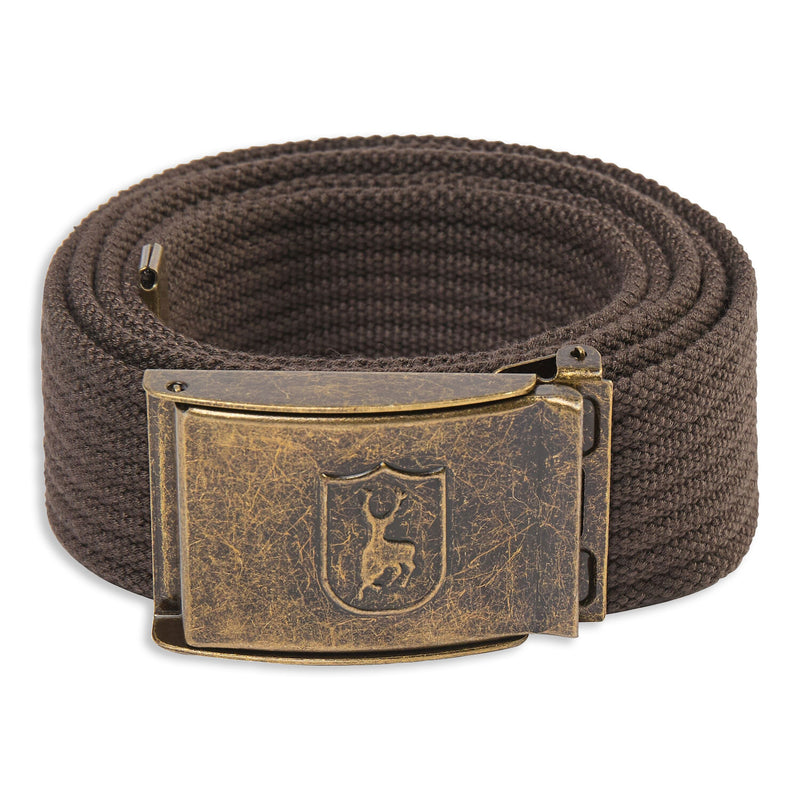Otter Brown Deerhunter Canvas Deer Buckle Belt