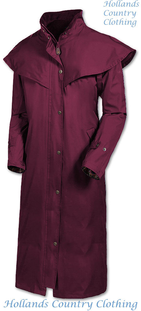 Burgundy Target Dry Outback 2 Full Length Long Waterproof Coat.
