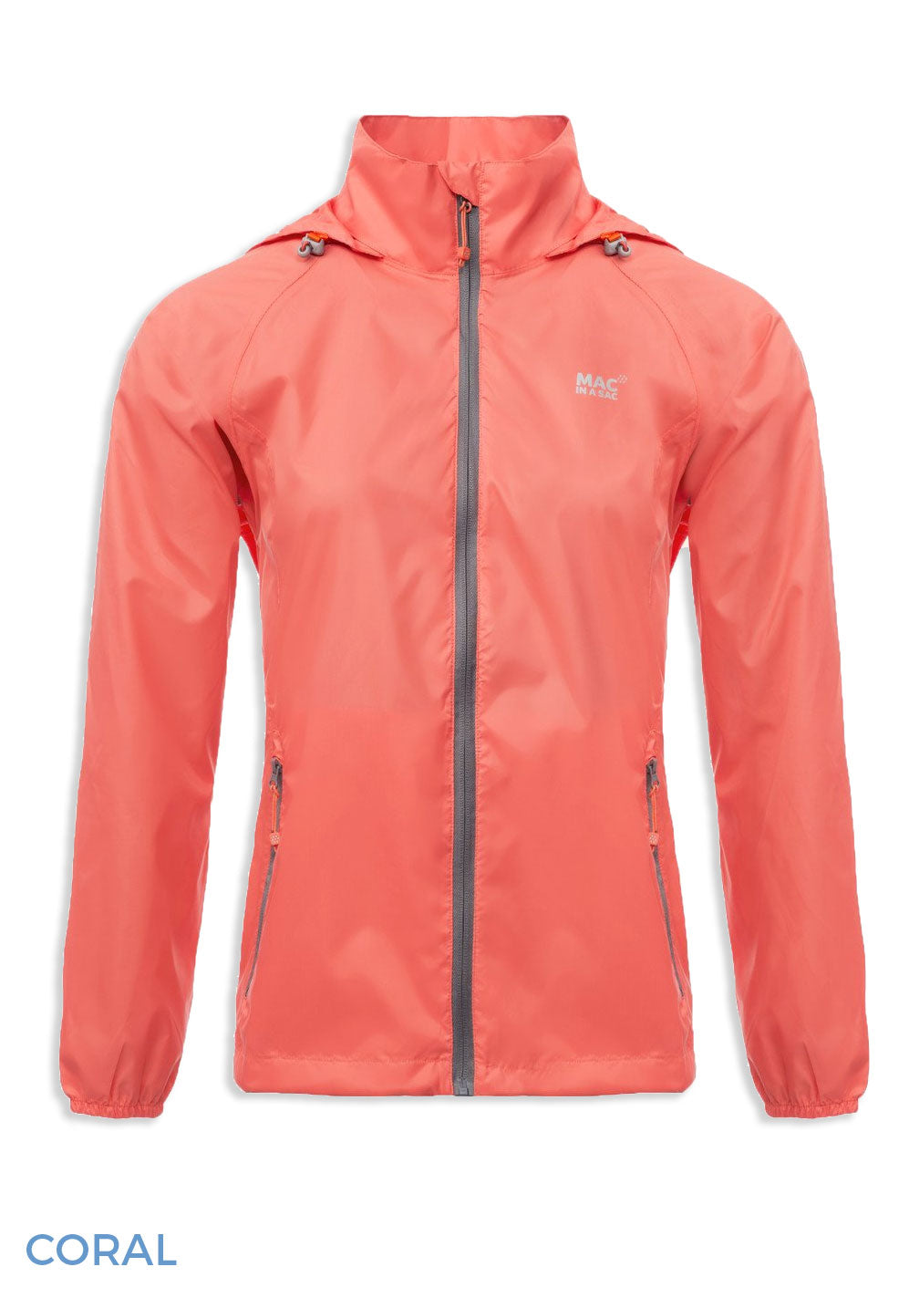 Coral Packaway Waterproof Jacket by Lighthouse
