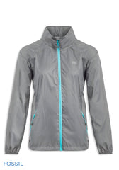 Fossil Grey Packaway Waterproof Jacket by Lighthouse