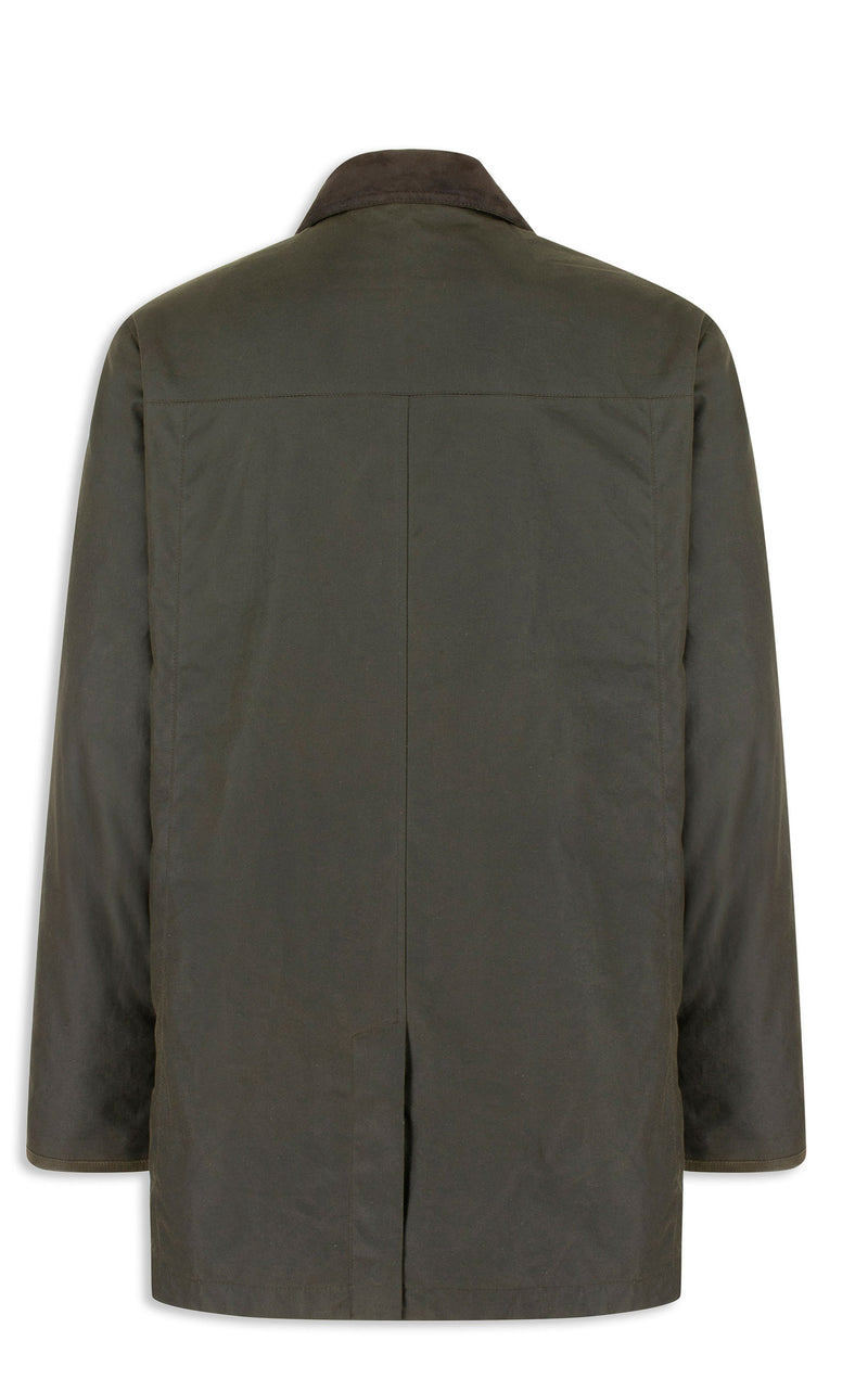 Back View Hoggs of Fife Caledonia Waxed Jacket