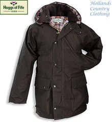 The Hoggs of Fife Padded Waxed Jacket in Brown