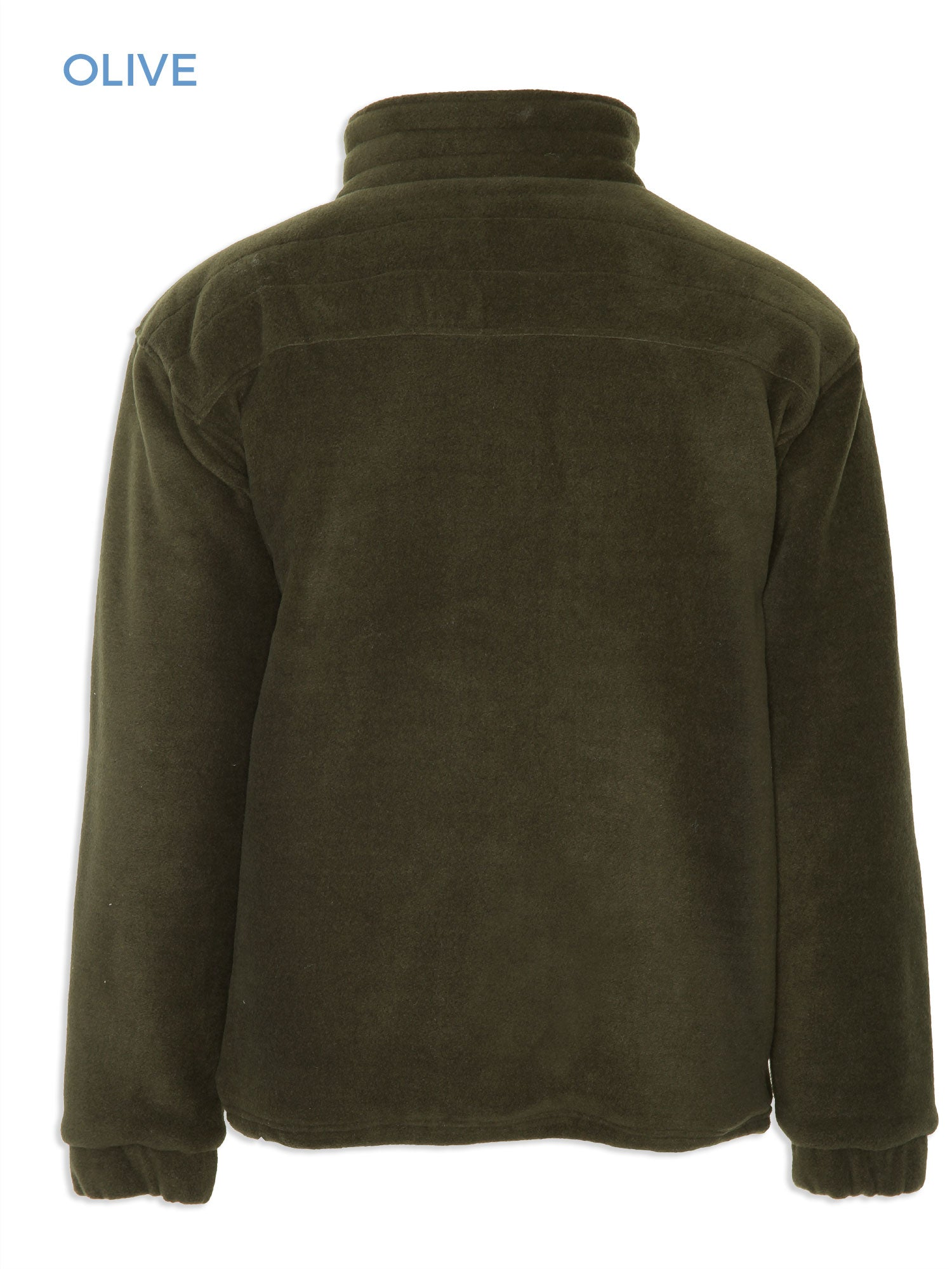 Back view Glen Lined Fleece Jacket from Champion in olive