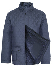 navy open front Champion Padstow Diamond Quilted Jacket